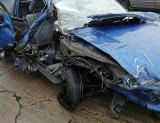 W Strykowie zderzyły się dwa samochody dostawcze i osobówka. Zablokowany jeden pas ruchu w kierunku Głowna