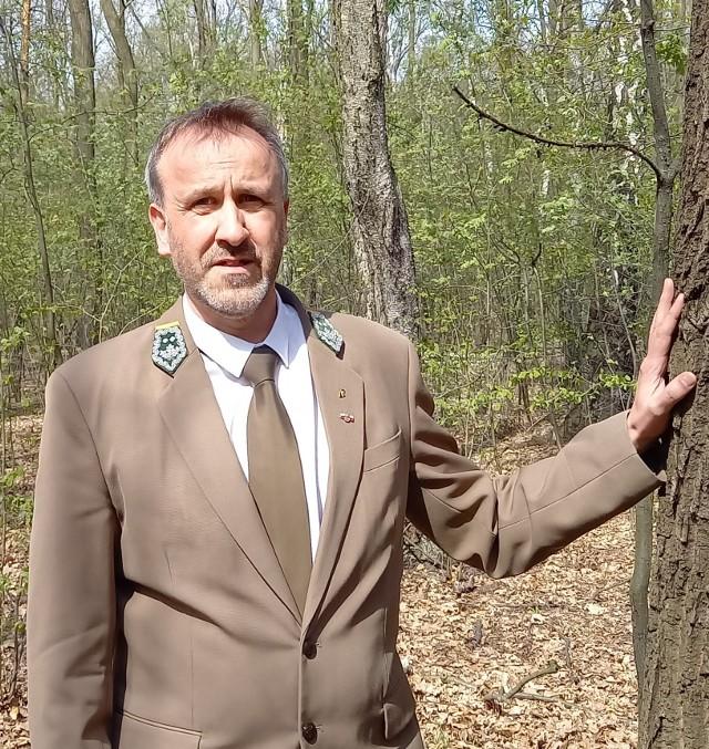 Hubert Wiśniewski, zastępca Regionalnego Dyrektora Lasów Państwowych w Katowicach