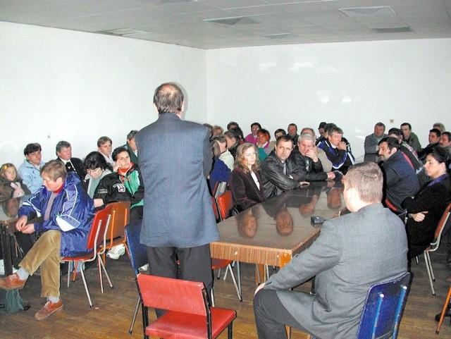 Na spotkanie z syndykiem przyszło kilkadziesiąt osób.