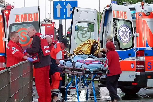 W pożarze ciężko poparzony został 38-letni mężczyzna