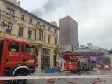 Pożar kamienicy na ul. Piotrkowskiej ZDJĘCIA