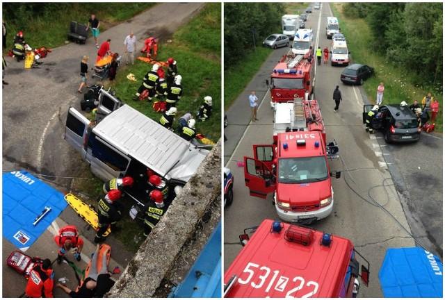 Wypadek na trasie Szczecin - Chociwel.