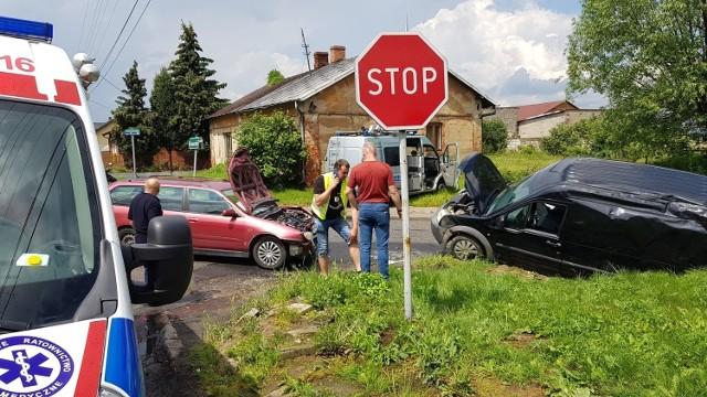 Wypadek w Komornikach