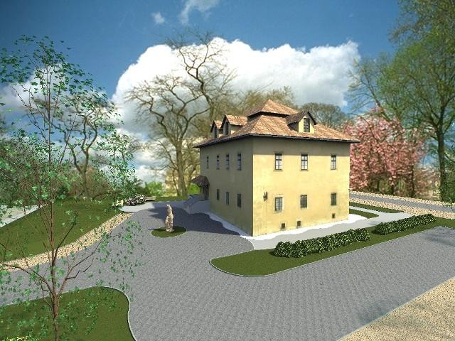 Zabytkowy dworek w Dobieszowicach