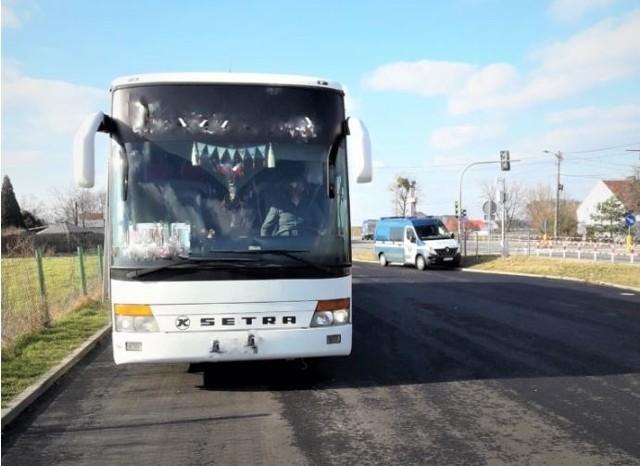 Ten ukraiński autokar nie nadawał się do dalszej jazdy.