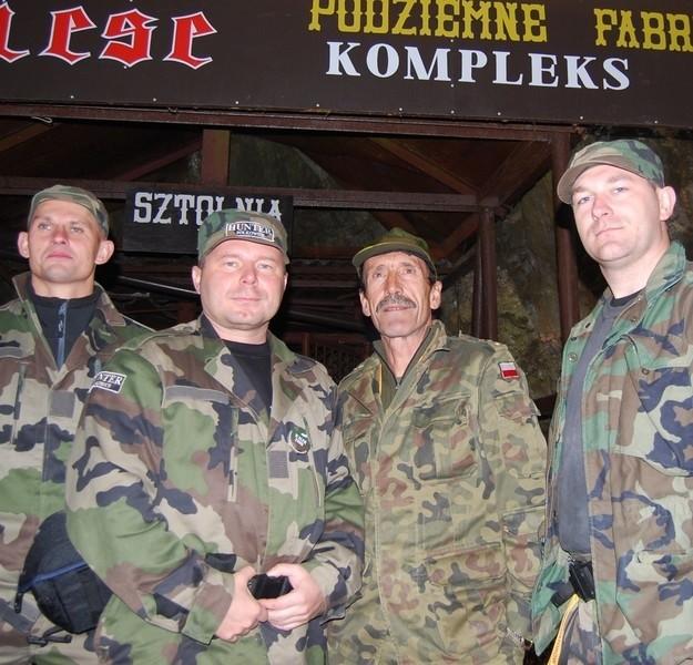 To tylko część grupy Hunter. Na zdjęciu polkowiczanie Andrzej Kaczanowski, Krzysztof Mościński, Sławomir Tarnowski i Paweł Wasilewski