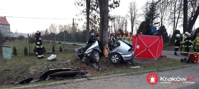 Wypadek w Prusach. Zdjęcia dzięki uprzejmości serwisu Kraków 112 - ratownictwo w obiektywie