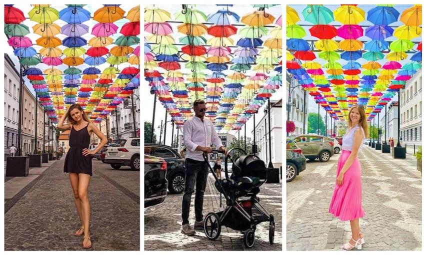 Parasolki nad Kilińskiego w Białymstoku przyciągają...
