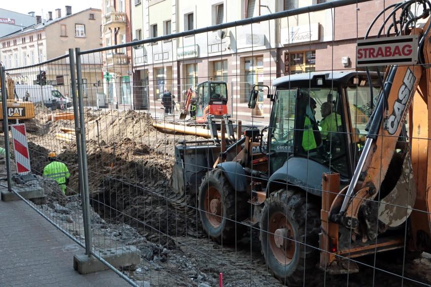 Prace związane z modernizacją sieci tramwajowej w...