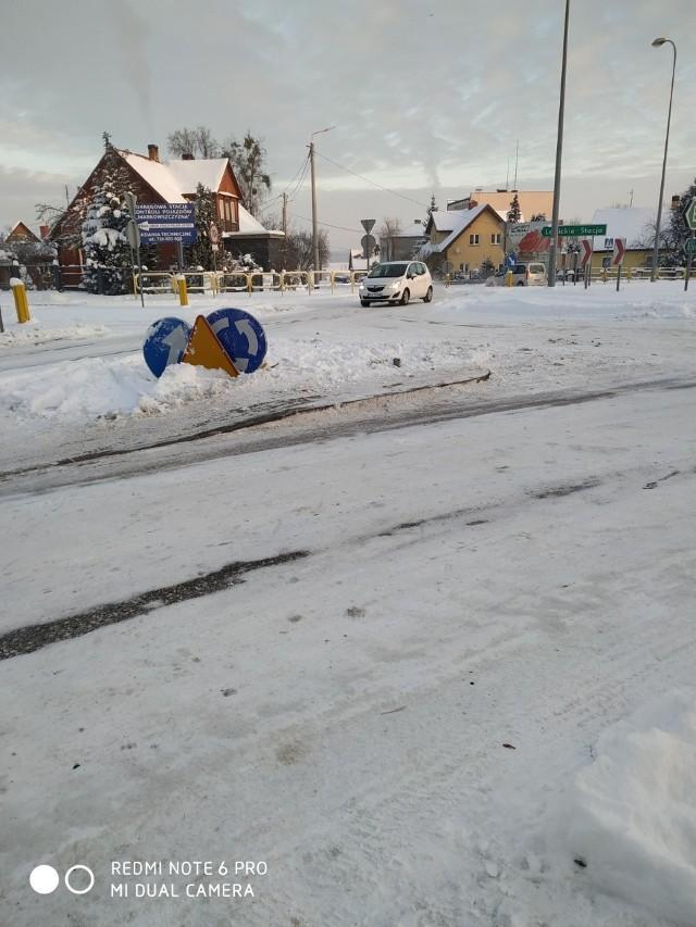 Rondo w Juchnowcu na zdjęciu przysłanym przez Czytelnika