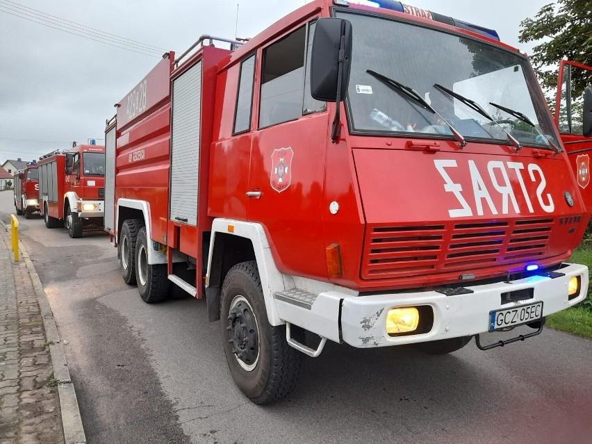 Pożar w Bielsku! Paliły się stodoła i poddasze budynku...