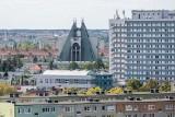 Tak wygląda Poznań z wieżowca na os. Nowych Kosmonautów przy ul. Serbskiej. Zobacz niezwykłe zdjęcia