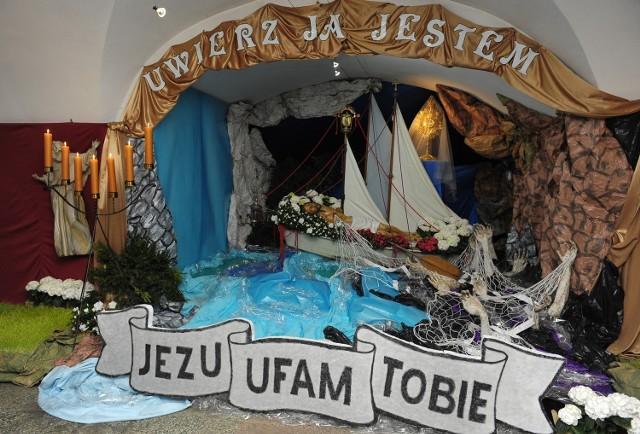 Grób Pański w kościele ojców Franciszkanów.