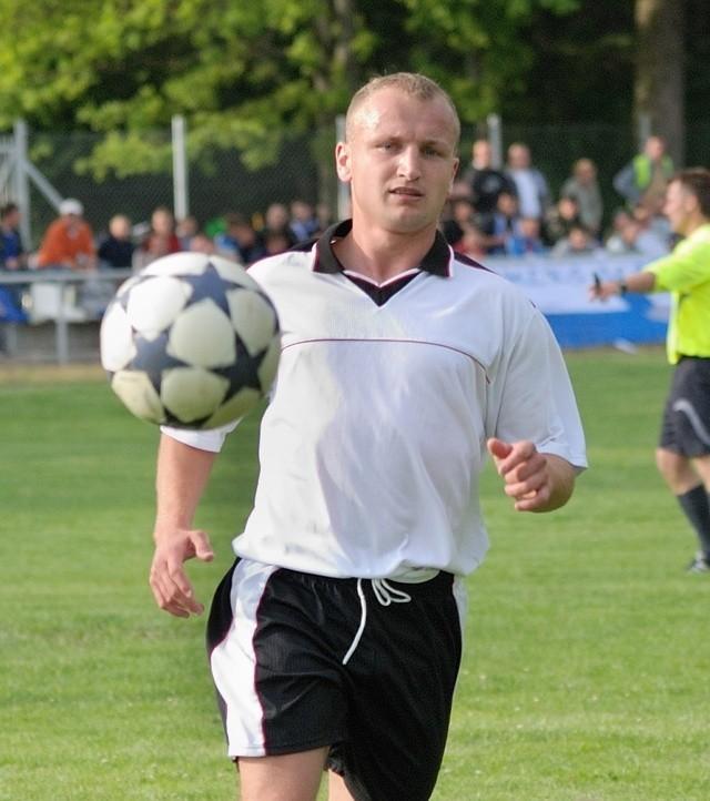 Rafał Dudka z Głazu nie wykorzystał kilku wyśmienitych sytuacji.