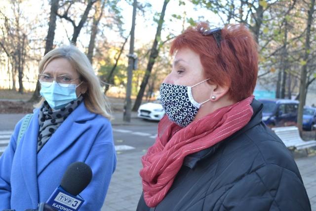 Podczas briefingu prasowego we wtorek, 24 listopada, Jolanta Moćko (z lewej) oraz Katarzyna Indyka (z prawej) odpowiadały na post radnego Łukasza Litewki i opowiedziały swoją wersję wydarzeń, które w Sosnowcu wzbudziły kontrowersje. Zobacz kolejne zdjęcia. Przesuń zdjęcia w prawo - wciśnij strzałkę lub przycisk NASTĘPNE