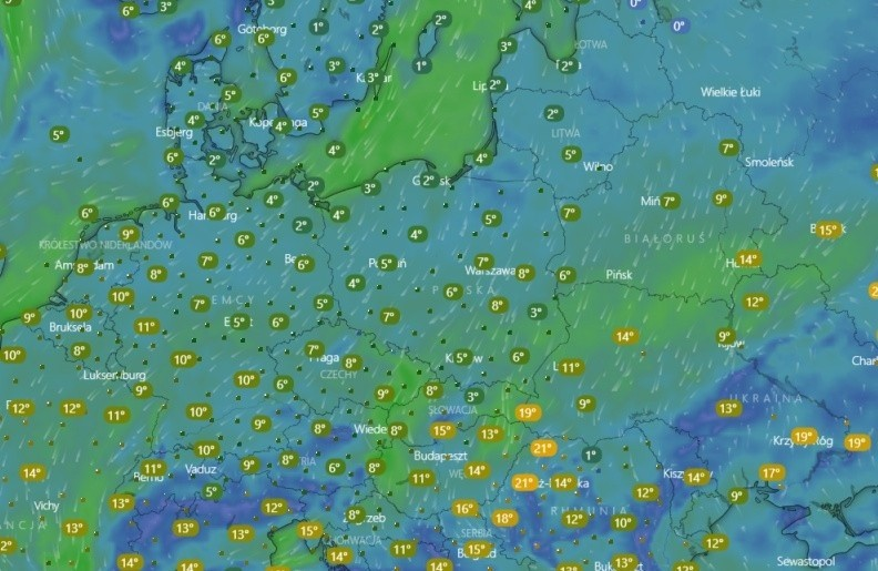 Gdzie Jest Deszcz Radar Opadow Gdzie Teraz Pada Deszcz Mapa