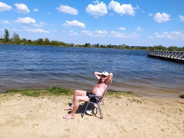 Tego dnia na plażę w Dojlidach przyszedł pan Jan Wacewicz - mors z Białegostoku.
