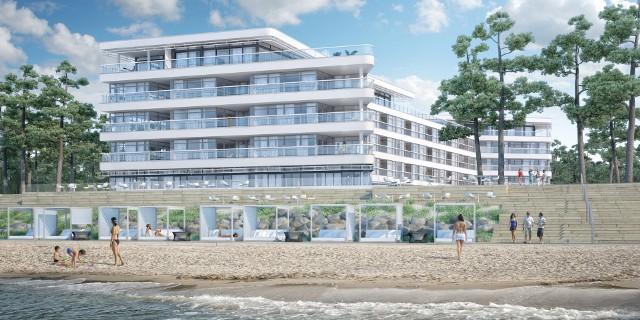 Apartamentowiec Dune w MielnieApartamenty Dune zlokalizowane są zaledwie kilka metrów od plaży.