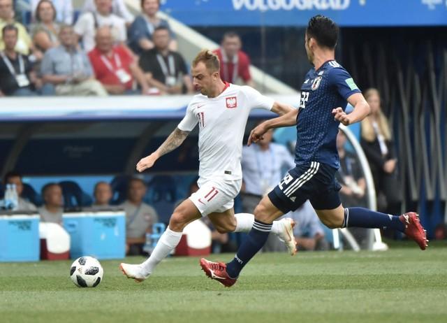 Kamil Grosicki z Japonią kilka razy zagroził bramce rywali