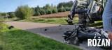 Wypadek w Zawadach-Ponikwi. Zderzenie ciągnika rolniczego i motocykla. Zdjęcia. 2.09.2021