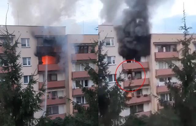 Dramatyczny przebieg pożaru w Libiążu. Lokator uciekł przez balkon