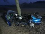 Tragiczny wypadek w Klukowej Hucie 2.12.2020. Samochód uderzył w drzewo. Nie żyją dwie osoby. Zdjęcia