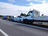 Cztery samochody zderzyły się pod Opolem na krajowej 45