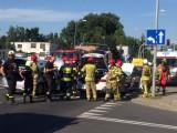 Wypadek w Poznaniu: Na Grunwaldzkiej zderzyły się trzy auta