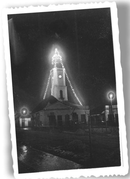 Ratusz jak choinka – ok. 1930 r. Fot. ze zbiorów Muzeum Podlaskiego w Białymstoku