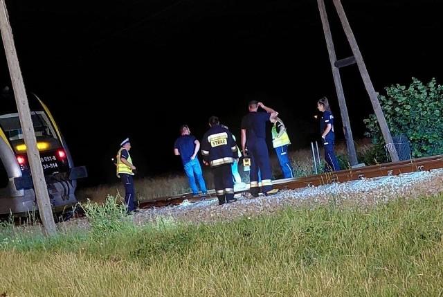 Wypadek na przejeździe w Łambinowicach.