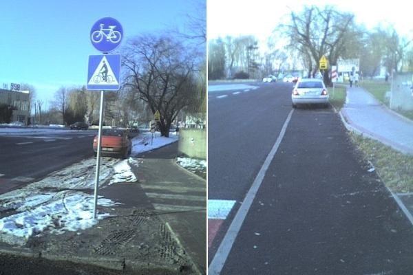 Droga dla rowerów przy ulicy Budowlanych w Opolu.