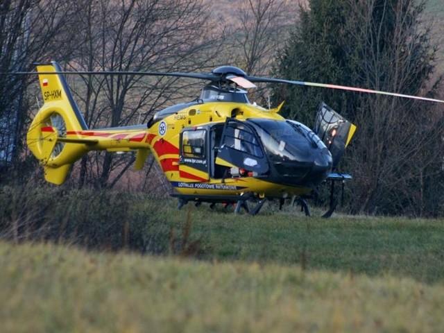 Na miejsce wypadku przyleciał śmigłowiec Lotniczego Pogotowia Ratunkowego