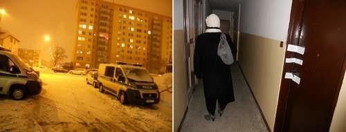 Mieszkańcy wieżowca przy ulicy Rydla nie przechodzą obojętnie obok tego mieszkania. Dobrze wiedzą co się tutaj wydarzyło w wigilię.