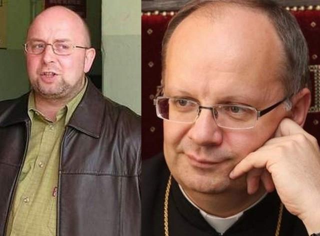 od lewej: ks. Ryszard Pieron, biskup opolski ks. Andrzej Czaja
