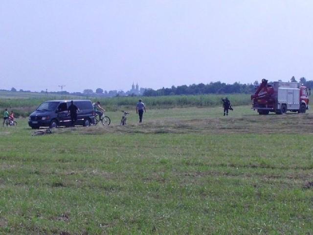 W środowe przedpołudnie na miejscu tragedii w gminie Piekoszów.