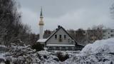 Dom Kultury Muzułmańskiej ma teraz minaret. Meczet w Białymstoku w zimowej scenerii (wideo, zdjęcia)