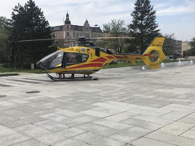 Śmigłowiec LPR lądował w centrum Opola