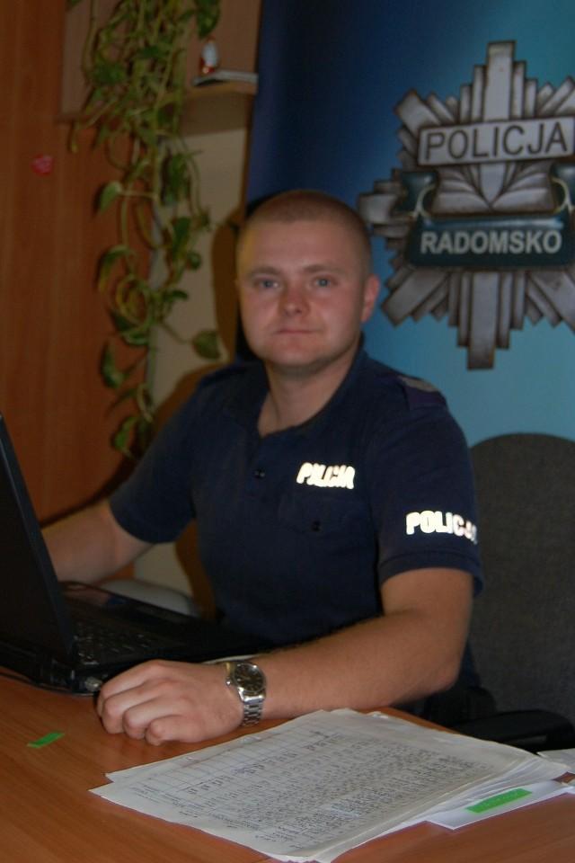 Aby zagłosować na sierż. sztab. Radosława Starosteckiego  wyślij SMS o treści POLICJANT.31 na numer 7155 (koszt 1.23 zł z VAT)