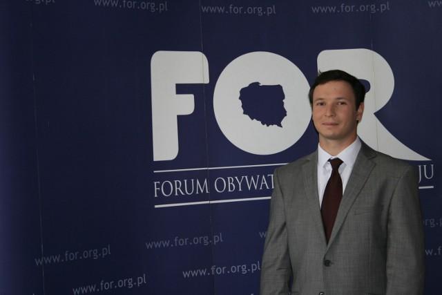 Aleksander Łaszek, ekonomista Forum Obywatelskiego Rozwoju.
