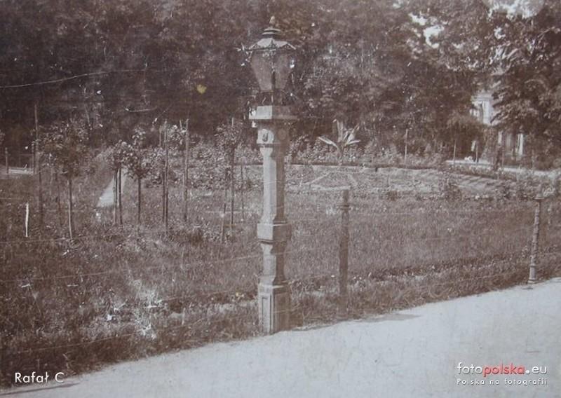 Lata 1910-1920 , Ogród Saski. Park - widok skweru , stara...