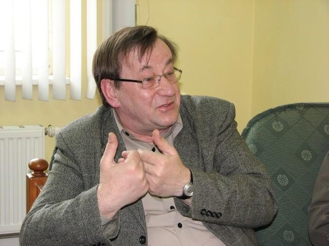 Podczas konferencji projekt budżetu na 2010 rok krytykował m.in. radny  Andrzej Wiśniewski
