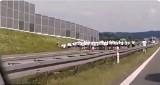 Ustawka kibiców na autostradzie A4. Jest nagranie video (zdjęcia, video)