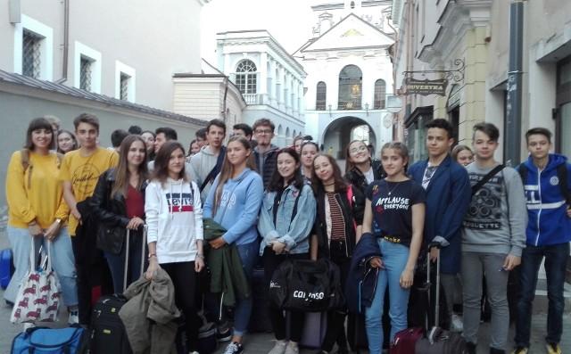 Wizyta zaczęła się od spotkania obu grup w Wilnie i zwiedzania tego miasta
