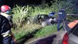Wypadek BMW w Orzechowcach koło Przemyśla. Do szpitala trafiła jedna osoba [ZDJĘCIA]