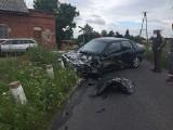 Pod Chełmżą na przejeździe szynobus zderzył się z autem osobowym. Wyglądało groźnie
