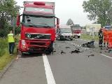 Śmiertelny wypadek na DK 91 we wsi Borki i śmiertelne potrącenie pieszego we wsi Bujnów koło Sieradza