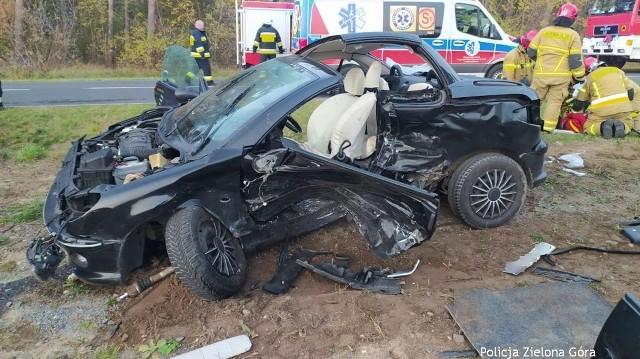 Do groźnego wypadku doszło w niedzielę 8 listopada na trasie Milsko-Zabór.