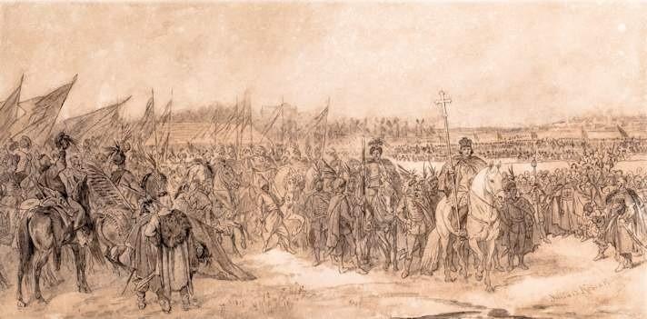 """Juliusz Kossak """"Elekcja Jana Kazimierza"""", przed 1875 r."""