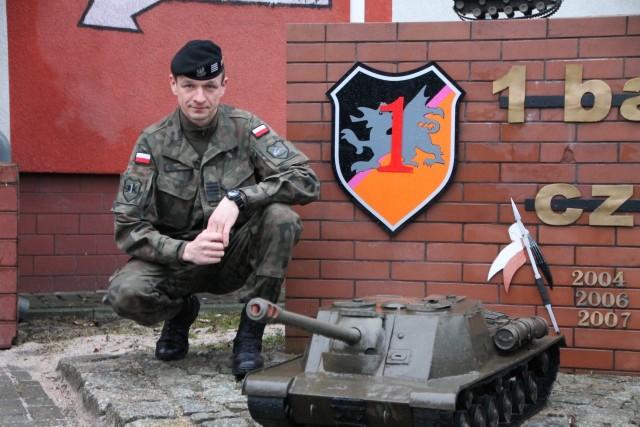 Paweł Bombrych od zawsze chciał być żołnierzem. Z Głogowa trafił do Świętoszowa