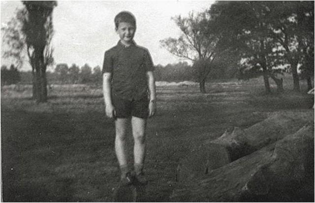 Znany nowosolski pisarz, jako siedmiolatek.